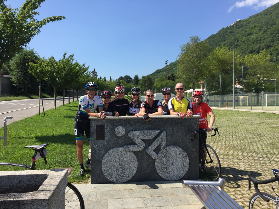 Onno Valbrona Cyclists' water fountain Lake Como